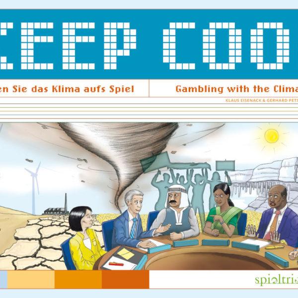 Das Verhandlungsspiel Keep Cool von Spieltrieb ist von Wissenschaftlern entwickelt und zeigt überspitzt die gegensätzlichen Interessen von Wirtschaft und Politik beim Kampf gegen den Klimawandel auf